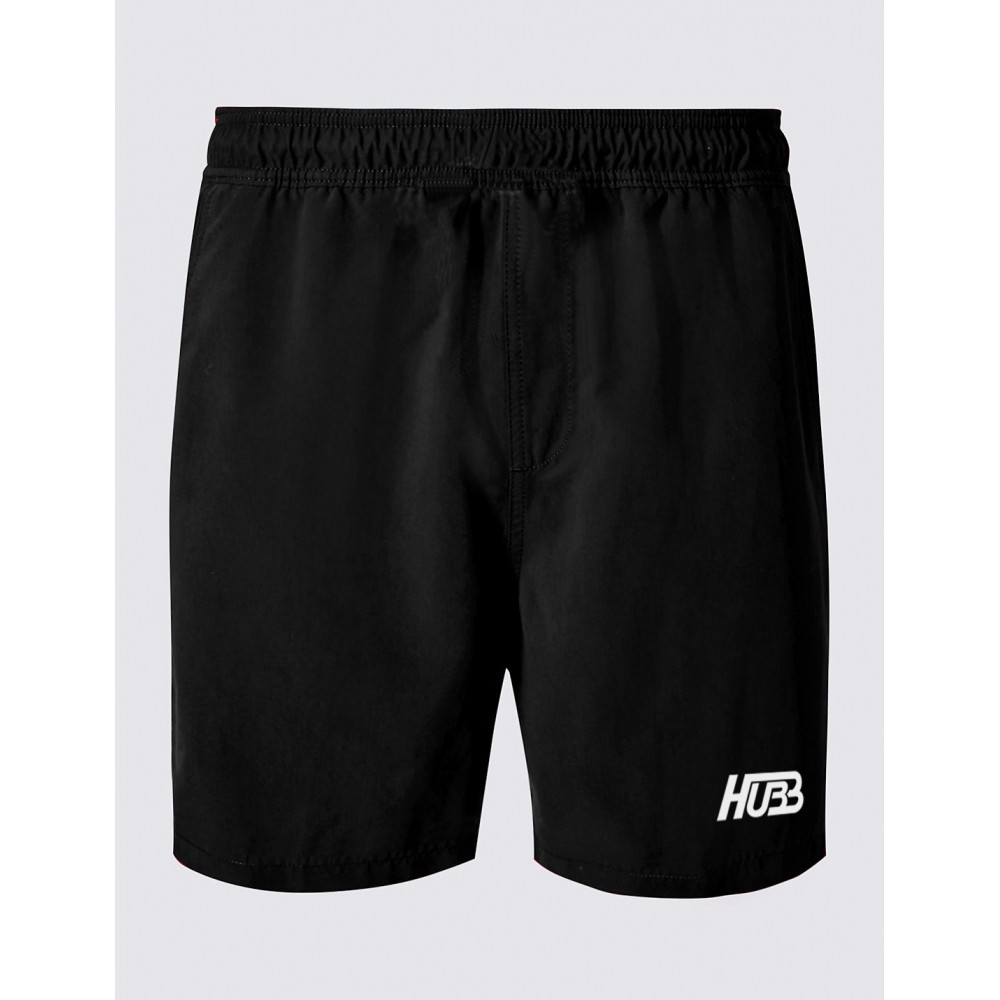 Chzl Mens Au Leather Velcro Weight Lifting Fitness: SQUAT RUNNING BEACH SHORTS HG-300BLK