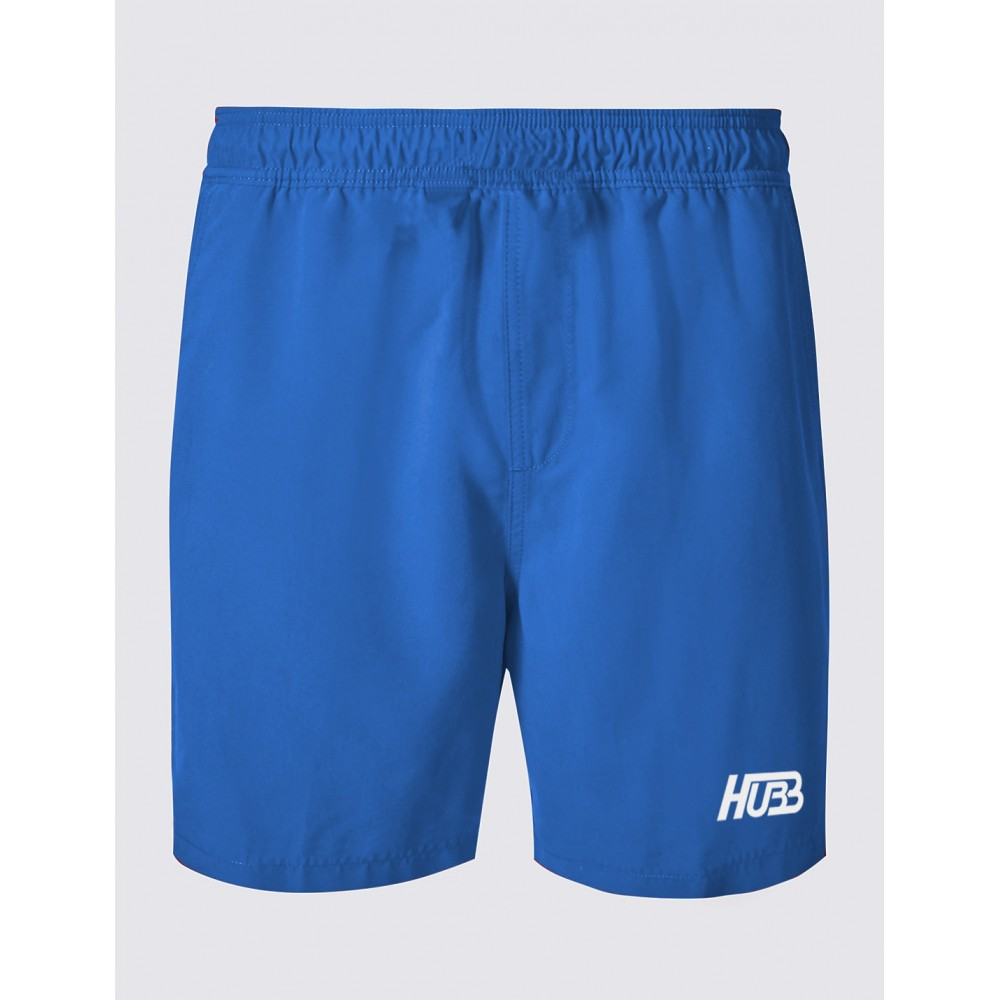Chzl Mens Au Leather Velcro Weight Lifting Fitness: JOGGING FITNESS GYM SQUAT SHORTS HG-300 BLUE